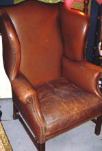 Drexel Leather Wingback