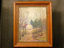 Oil on artist board, signed Poffenberger