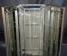 Modern Bevel Mirrored 3 panel screen