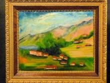 20th C Post Impressionist Landscape, unsigned