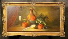 Still Life, Oil on Canvas, 20th C. unsigned