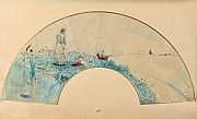 Jean-Louis FORAIN Projet d'éventail Aquarelle,
