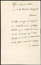 Cavour, Camillo Benso di (1810-1861).