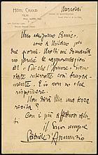 D'Annunzio, Gabriele (1863-1938).