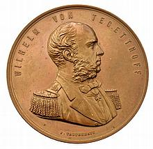 Medaglia del Barone Wilhelm von Tegetthoff - Medaille Wilhelm Freiherr von Tegetthoff