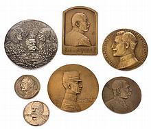 Insieme di sette medaglie patriottiche - 7 patriotische Medaillen