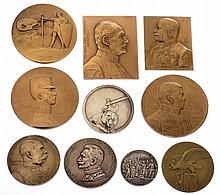 Insieme di dieci medaglie patriottiche - 10 patriotische Medaillen