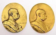 Insieme di due medaglie dell'anniversario di intitolazione - 2 Jubiläums-Inhaber-Medaillen
