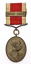 Medaglia di corte in bronzo dell'anniversario del 1898 - Jubiläums-Hofmedaille 1898 in Bronze