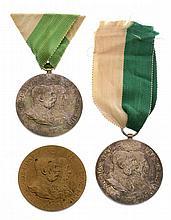 Due esemplari della Gran Medaglia - 2x Große Erinnerungsmedaillen Tirols im Jahre 1809