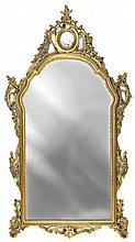 Specchiera in legno scolpito e dorato