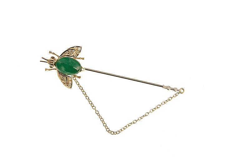 Smaragd - Rubin - Brillant - Nadel GG 750/000