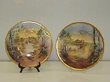 A Pair of Royal Doulton Scenic Plates