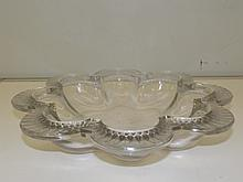 Lalique bowl with frosted edges, signed to the base - Lalique France, 28cm