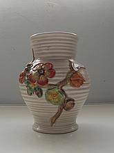 Clarice Cliff, Newport Pottery vase, baluster form, in the My Garden patter