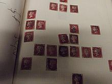 Penny Red stamps - An old time collectors attempt at a multiple plate recon