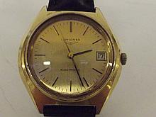 Longines electronic movement calibre no. 7212 gents watch, boxed, currently