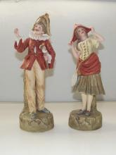 A pair of Robinson and Leadbetter Parian ware figures