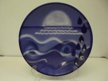 Poole Pottery wall charger, The Elements - Water, diameter 40cm