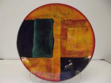 Poole Pottery wall charger, in the Gemstone pattern, diameter 40cm