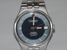 Omega Constellation F300Hz bracelet watch. Dated 1972. Stainless steel case 198.000, date aperture at 3 o'clock. Signed electronic calibre 1250 with quick date set. Kept excellent time over a 24 hour testing period.