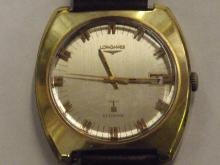 Longines Ultronic 1970s wristwatch with leather strap. 6321 - 50678168. Currently ticking and keeping good time over a 24 hour testing period