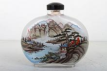 [CHINESE]A  INSIDE PAINTING SNUFF BOTTLE PAINTED WITH LANDSCAPE   L:4.75