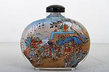 [CHINESE]A  INSIDE PAINTING SNUFF BOTTLE PAINTED WITH THE STORY OF THE WATER MARGIN  L:5