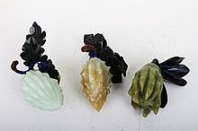 [CHINESE]A SET OF JADE CARVED BITTER GOURD (3 ITEMS)  L:6