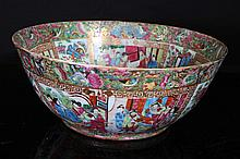 [CHINESE]A LATE 19TH CENTURY GUANG GLAZED PORCELAIN BOWL PAINTED WITH FIGURES (RESTORATION ON THE SURFACE)W:16