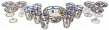 SET CONSISTING OF A PUNCH BOWL, 6 CUPS AND 8 GLASSES