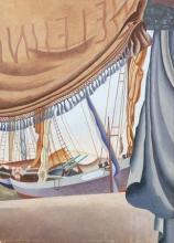 Edward Wadsworth-(British, 1889-1949)-St Tropez III 53.3 x 38.1 cm. (21 x 15 in.)