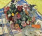 Freida Lock (South African, 1902-1962) Still life of nasturtiums and other flowers, Freida Lock, Click for value