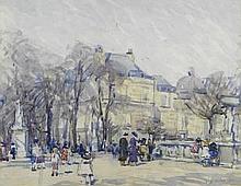 Jessica Dismorr (British, 1885-1939) Luxembourg Gardens