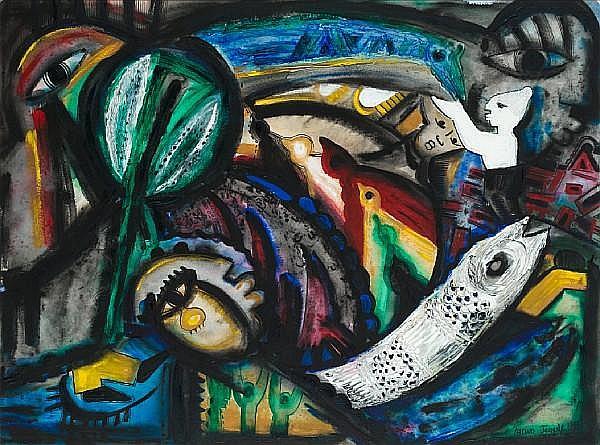 Emmanuel Taiwo Jegede (Nigerian, born 1943) Expectations III, 1994