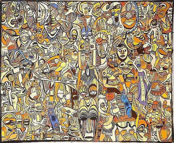 Emmanuel Ekong Ekefrey (Nigerian, born 1952) Cultural Enhancement