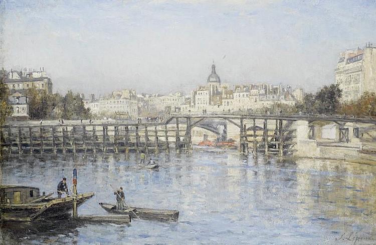 Stanislas Lépine (French, 1835-1892) Paris. La Seine au pont de l'Estacade