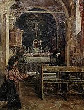 ELIZABETH ADELA STANHOPE FORBES, ARWS (CANADIAN,   1859-1912)   Church inte
