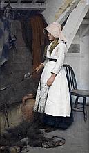 AR Frederick Hall (British, 1860-1948) A Fisherman's Daughter