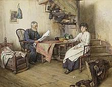 Walter Langley, RI (British, 1852-1922) News of the Fleet