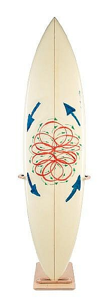 Conrad Shawcross (British, 1977), Surfers Against Sewage, Untitled mixed media on glassed and polished surfboard,