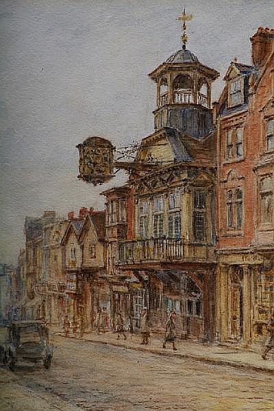 Henry James Sage (British, 1868-1953) A view of Guildford high street,