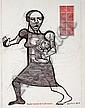 Dumile Feni-Mhlaba (Zwelidumile Mxgazi) (South African, 1942-1991) Mother and child,  Dumile, Click for value