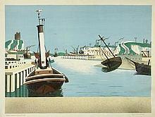 * AR EDWARD WADSWORTH (BRITISH, 1889-1949) Imaginary Harbour (Greenwood W/C