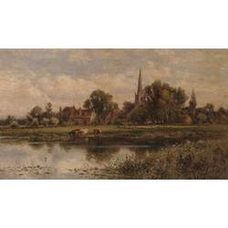 Alfred Augustus Glendening (British, 19th century), Beukenham ferry on the Ware; Hemmingford on the Ouse
