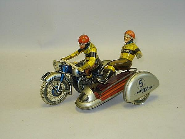 Tippco Silver Racer racing motorcycle and sidecar