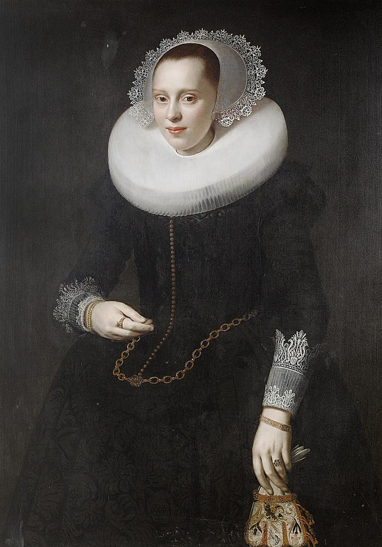 Nicolaes Elias, called Pickenoy (Amsterdam circa 1588-circa 1655) Portrait of a lady, standing, three-quarter-length,