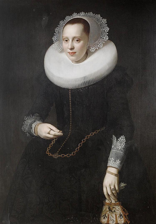 Nicolaes Elias, called Pickenoy (Amsterdam circa 1588-circa 1655) Portrait of a lady, standing, three-quarter-length,
