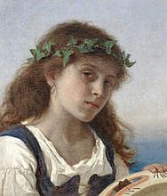 Sophie Anderson (British, 1823-1903) The tambourine player
