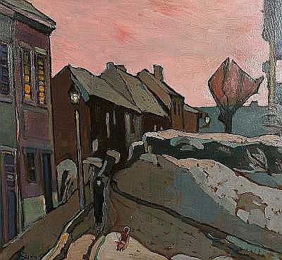 Armin Stern (German, born 1883) Street scene